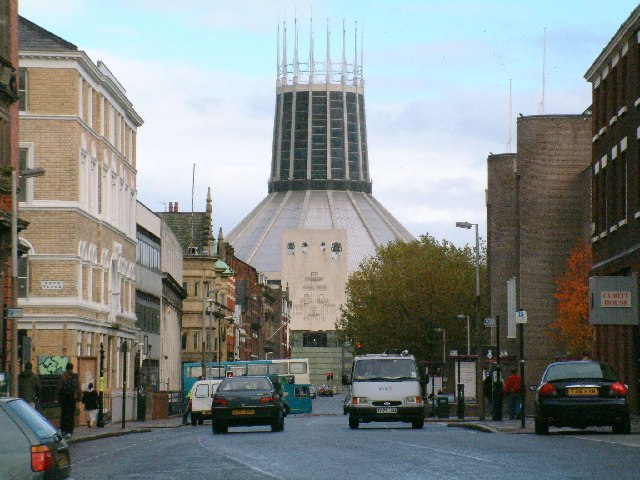 Hope Street and the Roman Catholic Metropolitan Cathedral of Christ the King, Liverpool