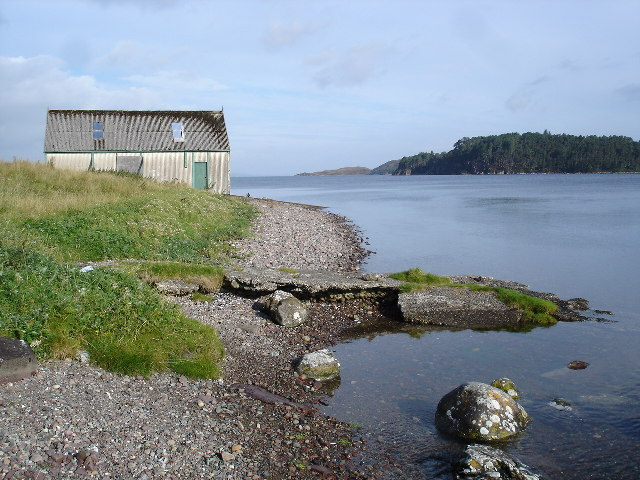 The old Poolewe jetty