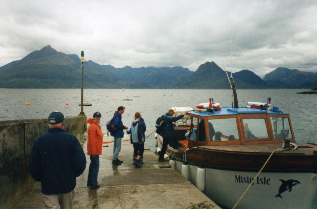 Elgol jetty and Loch Scavaig
