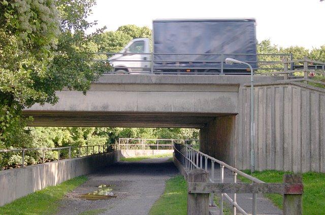 A38 Road Bridge over the River Erme at Ivybridge