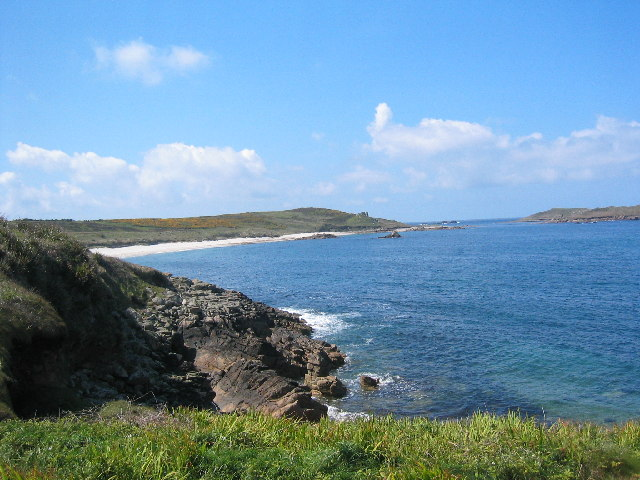St Martin's coastal path, looking towards Great Bay