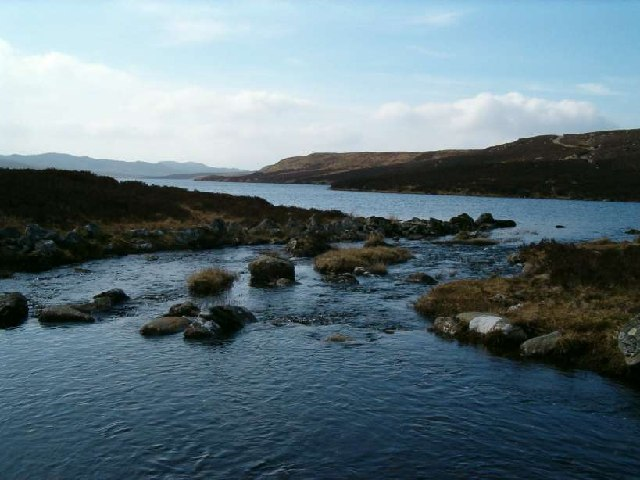 River entering Loch Gainmheach, Argyll