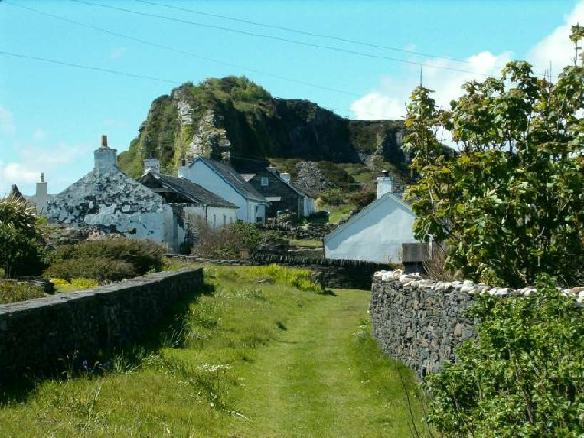 Green lane on the Isle of Easdale, Argyll