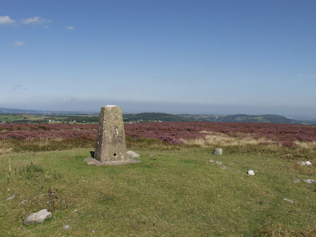 Trig point on Esclusham Mountain