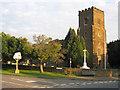 TL0835 : Church and War Memorial, Silsoe, Beds by Rodney Burton