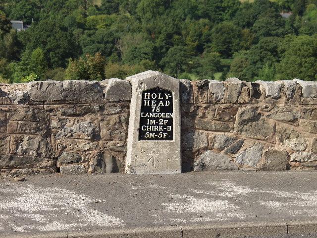Milestone on the Holyhead Turnpike