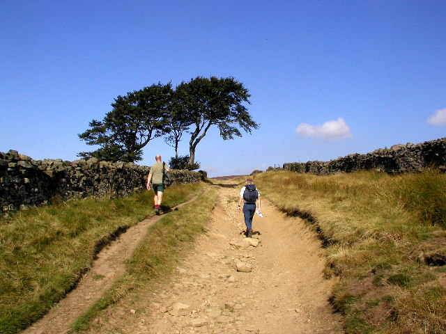 The path to Scar House Reservoir from Middlesmoor