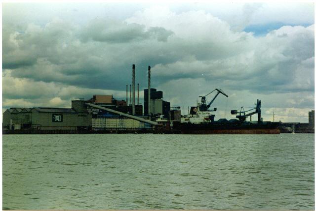 River Thames, seaward side of the Thames Flood Barrier