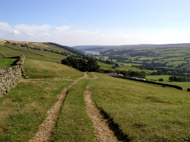 The view over to Gouthwaite Reservoir