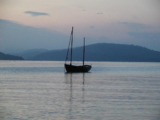 Balcary Bay, dusk