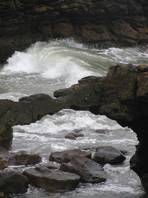 Natural arch at Brock's Holes