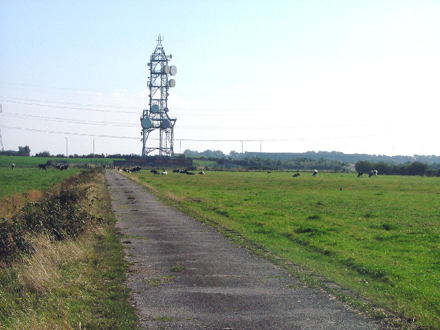 BT microwave radio tower on Heysham Moss. Morecambe, Lancashire.