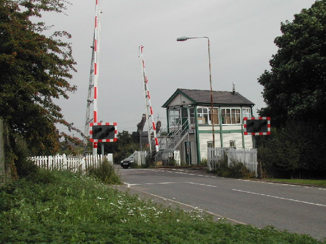 Staythorpe Level Crossing and Signal Box