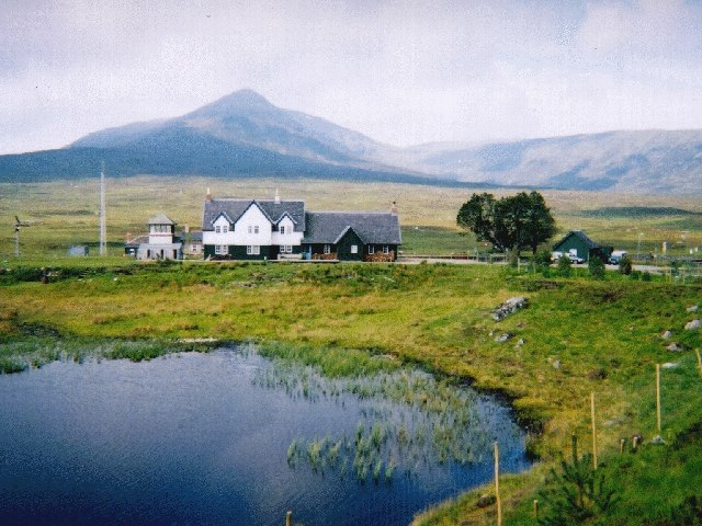 Corrour Station with Leum Uilleim behind