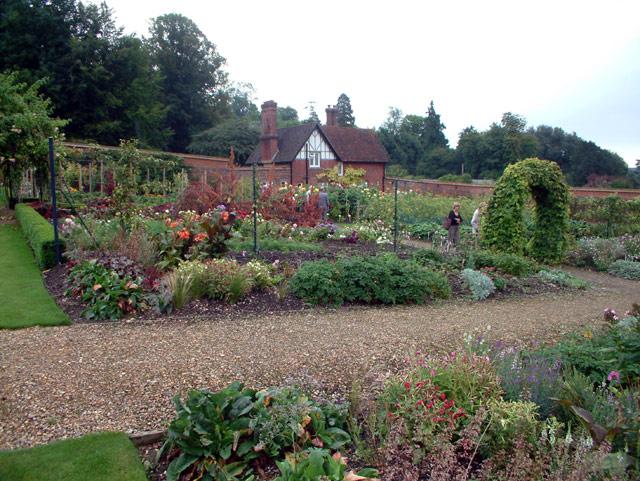 The walled garden at Titsey Place, Limpsfield, Surrey RH8
