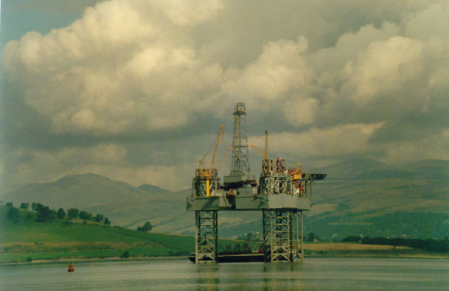 Oil Drilling Rig - Laid up in Portkil / Meikleross Bay
