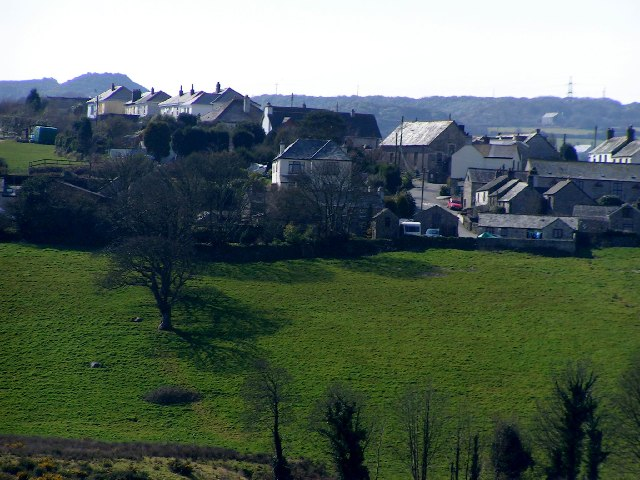 Rescorla Village from across the fields