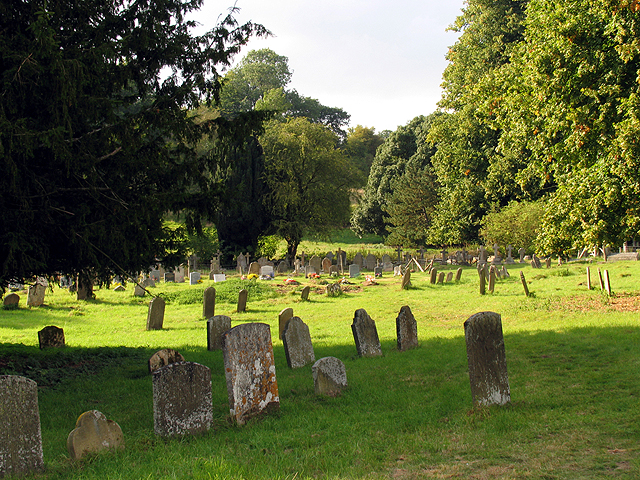Graveyard in Farmland at Speen