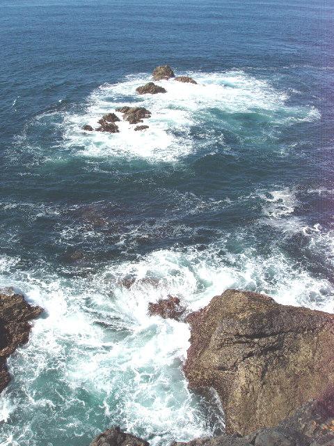 Rocks off Park Head