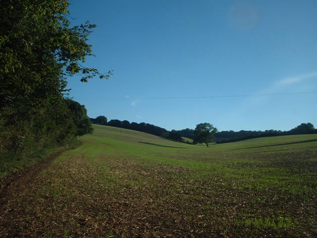 View south from the green lane off Dean Lane