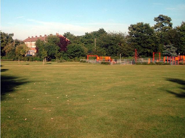 Weeke - playing field, playground and shops