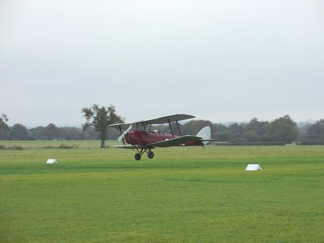 Biplane at Headcorn Aerodrome