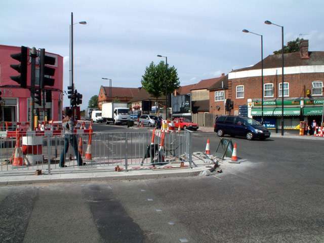 Junction of A214 with A215, SE19
