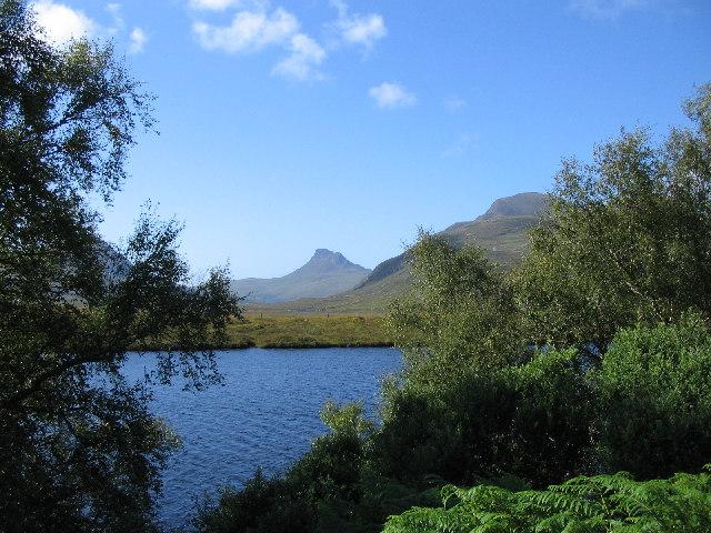 Stac Pollaidh over Loch Cul Dromannan