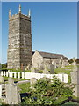 SW8769 : War graves at St Eval Church by David Hawgood