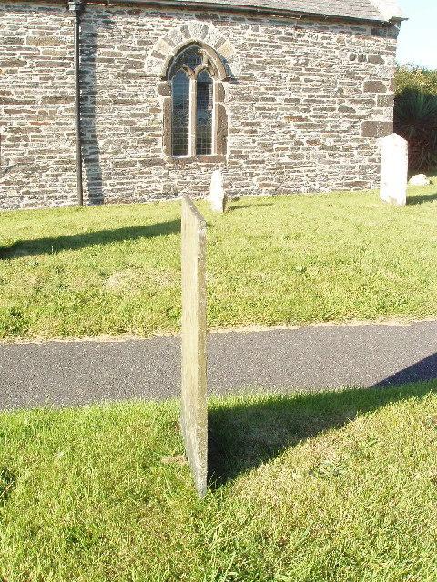 Slate gravestone at St Eval