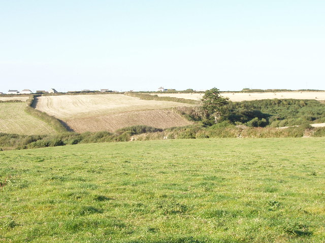 Fields and valley at Tregona near Bedruthan