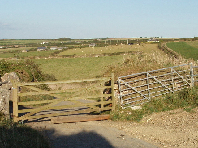 Gated road at Bedruthan