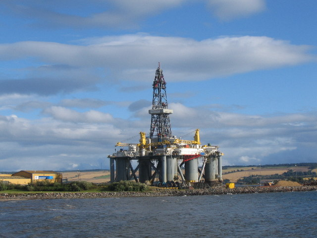 Oil Platform at the Cromarty Maintenance Base, Invergordon