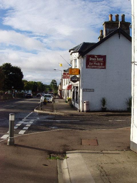 Looking South along Main Street, Braco