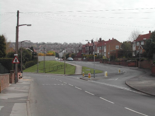 Junction, Calverton Road and Surgeys Lane, Arnold. 2004