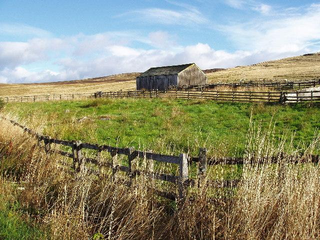 Farm building and enclosure