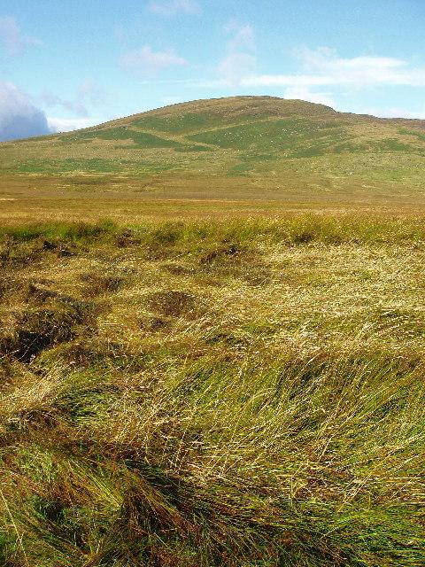 Rough ground leading to Ben Clach