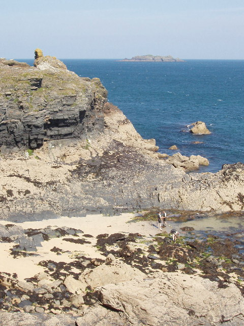 Gulland Rock from Harlyn Bay