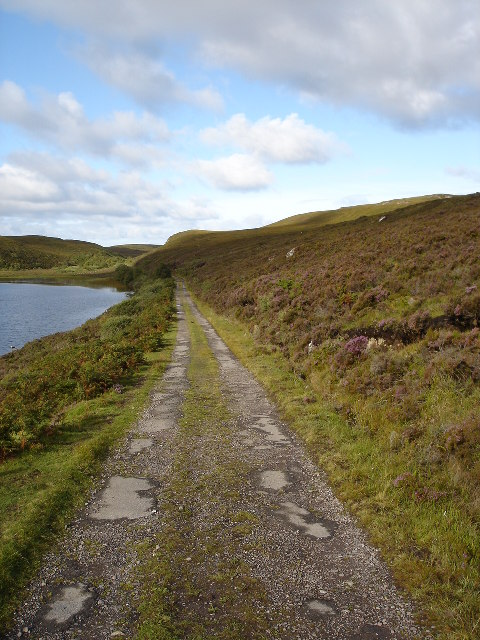 The track to Slaggan