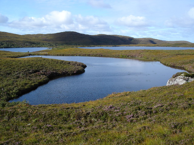Unnamed subsidiary lochan to Loch an t-Slagain