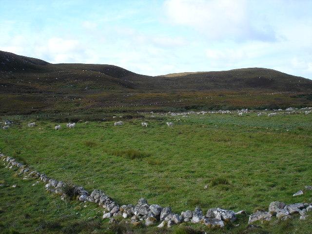 Slaggan village in fields
