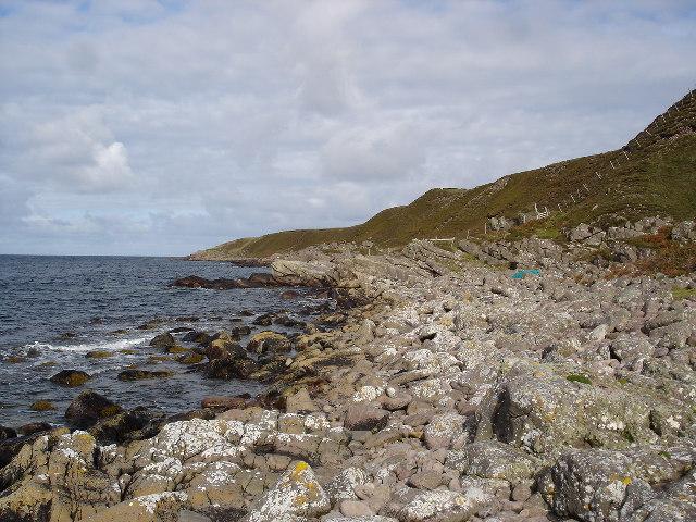The coast of Slaggan Bay