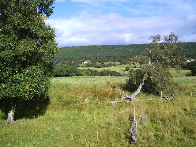 Looking across the Carron river, from Allt a Ghlinne