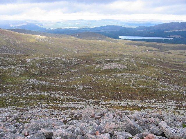 Moors beneath the Northern Corries.
