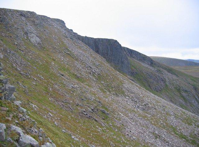 Headwall of Coire an Lochain.