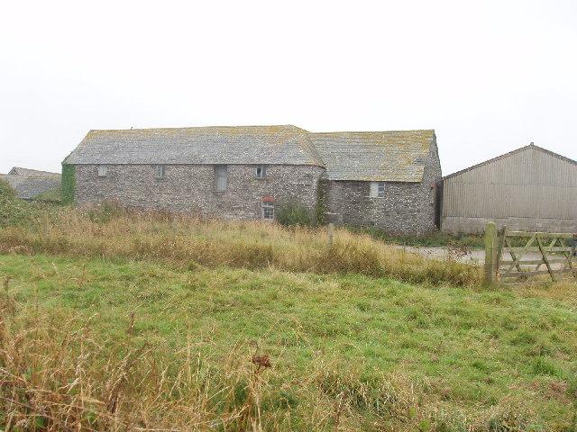 Farm buildings at Crugmeer, near Trevone