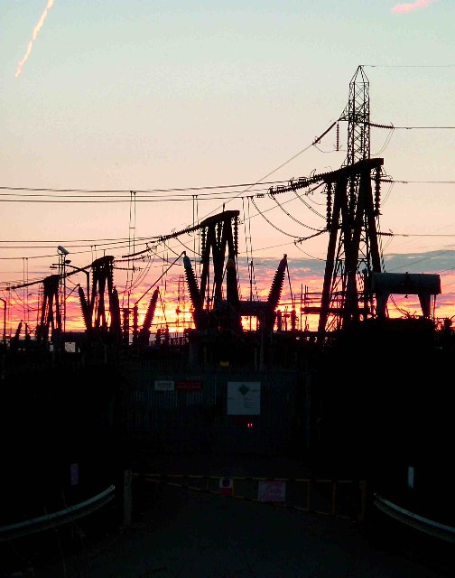 Substation Sunset