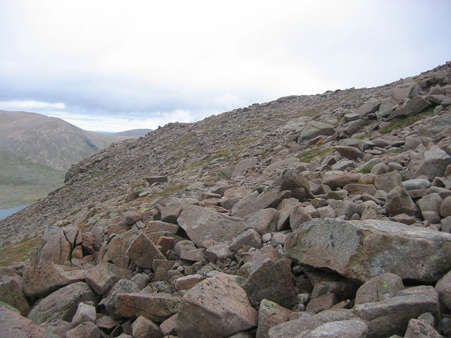 Boulderfield above Loch Etchachan