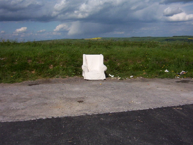 A Lone Armchair at Devil's Dyke