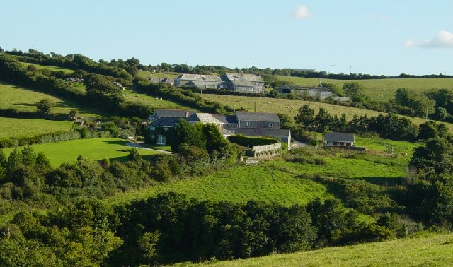 Trevilgus Farm (foreground) and Penrose